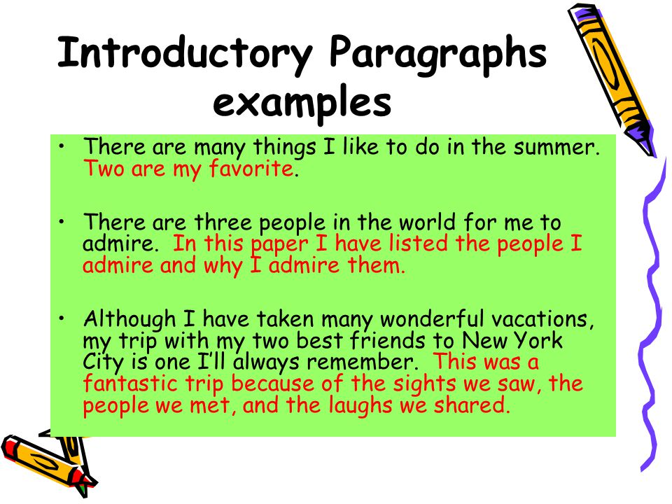 introductory statement examples
