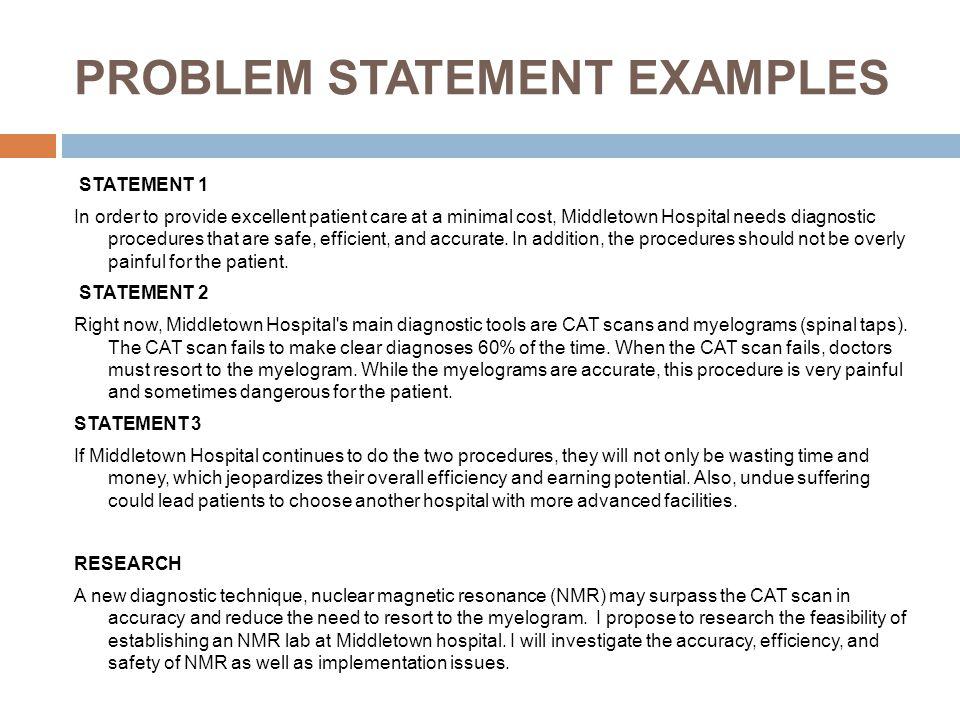 Research Problem Statement Examples — Example 1 (Quantitative Study)