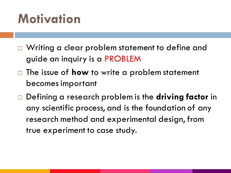 Writing Problem Statement For Research In Science Technology Ppt