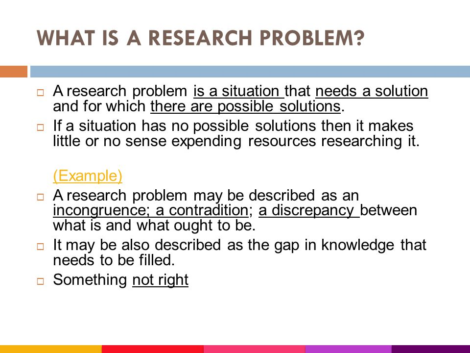 Writing problem statement for research in science & technology.