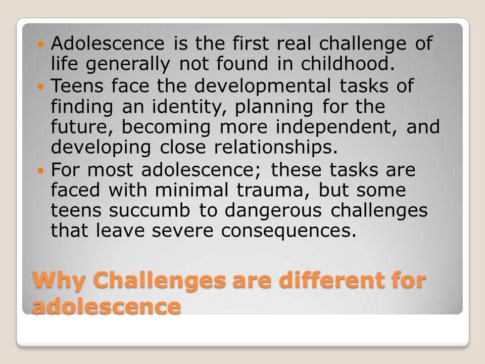 developmental challenges in adolescence