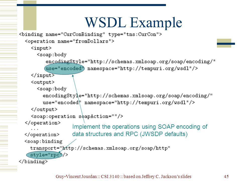 Web Services: JAX-RPC, WSDL, XML Schema, and SOAP - ppt