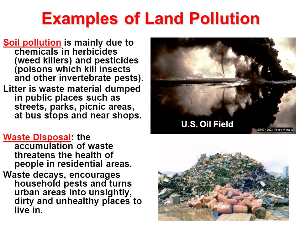 comparing the impact of pollution in The different types of pollution are: air pollution air pollution is the contamination of the natural air by mixing it with different pollutants such as harmful fumes and chemicals.