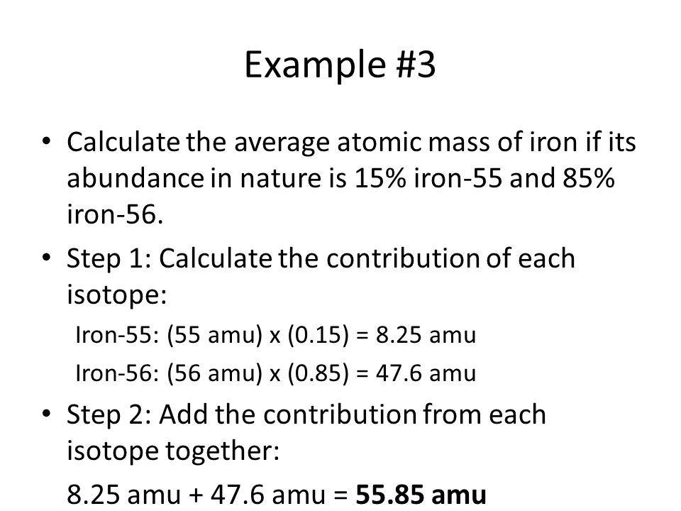 Average Atomic Mass Ppt Video Online Download