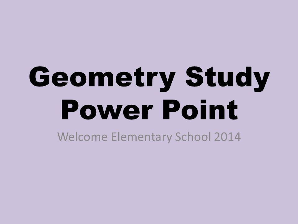 geometry study power point ppt download