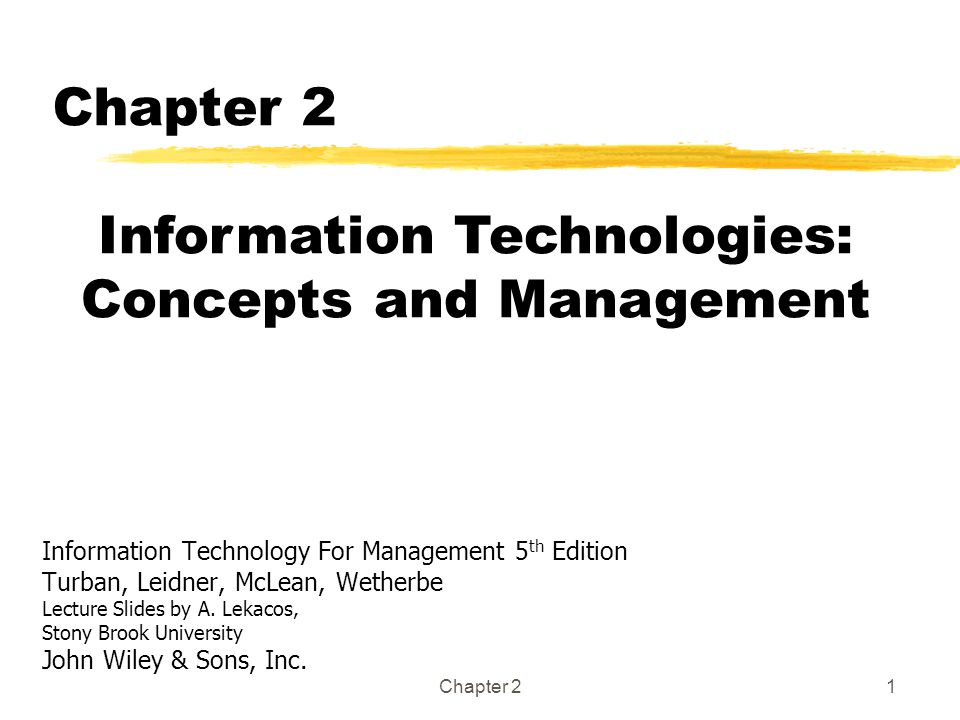 information technology for management pdf turban