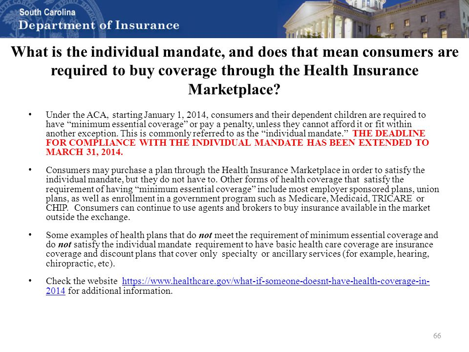 Health insurance 101 aca overview update and q a south - Minimum essential coverage plan design ...