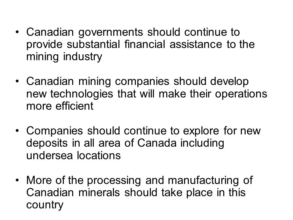 The Mining Industry in Canada - ppt download
