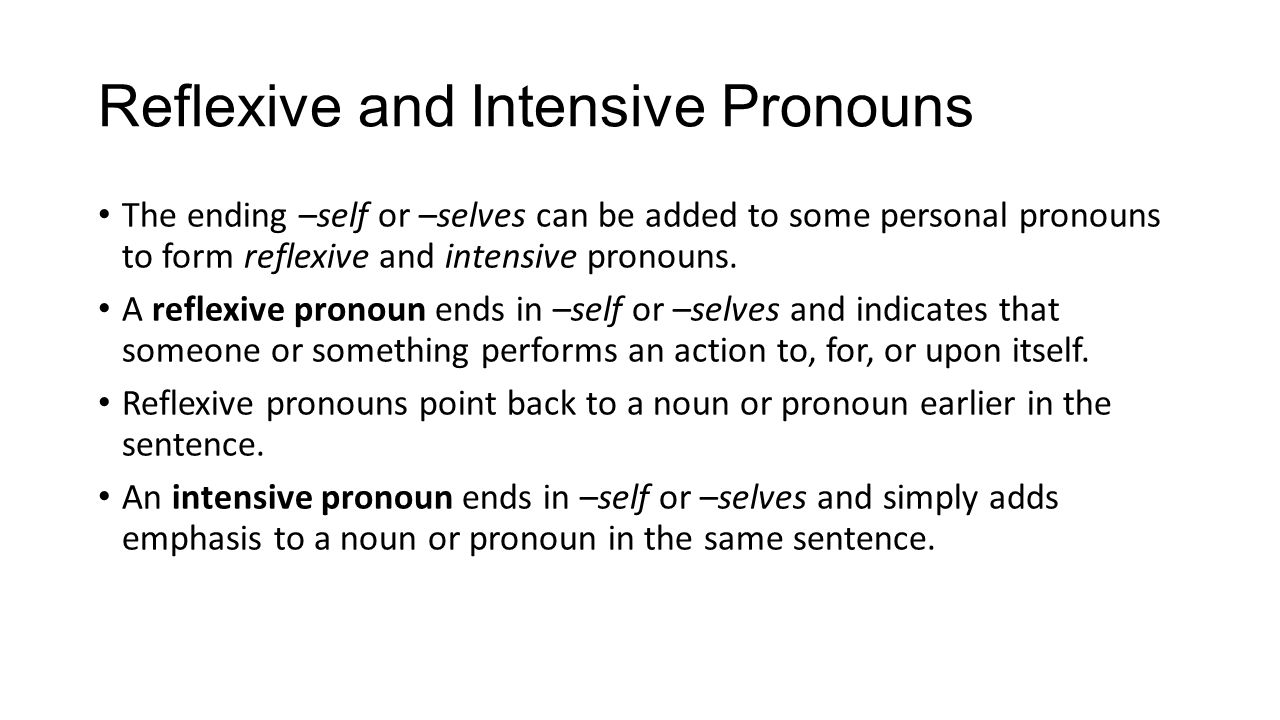 Workbooks reflexive pronoun worksheets for 2nd grade : Parts of Speech- Pronouns - ppt video online download