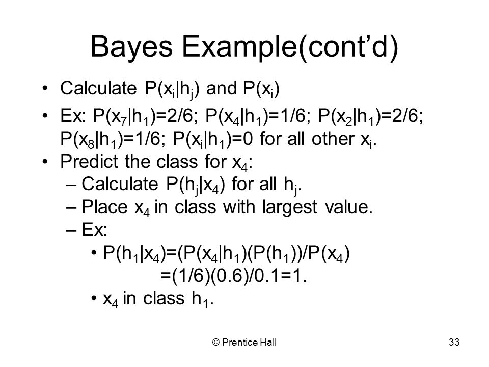 Bayes Example(cont'd)