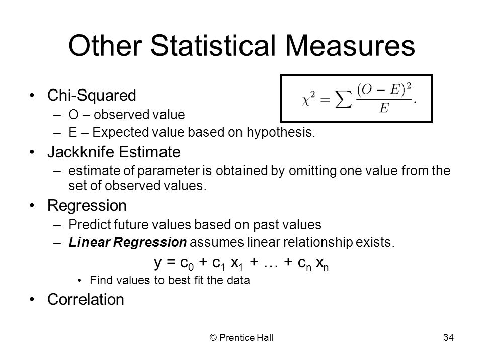 Other Statistical Measures