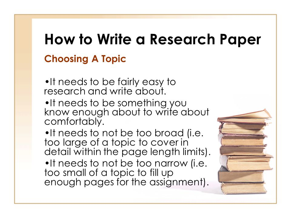 broad topic for research paper