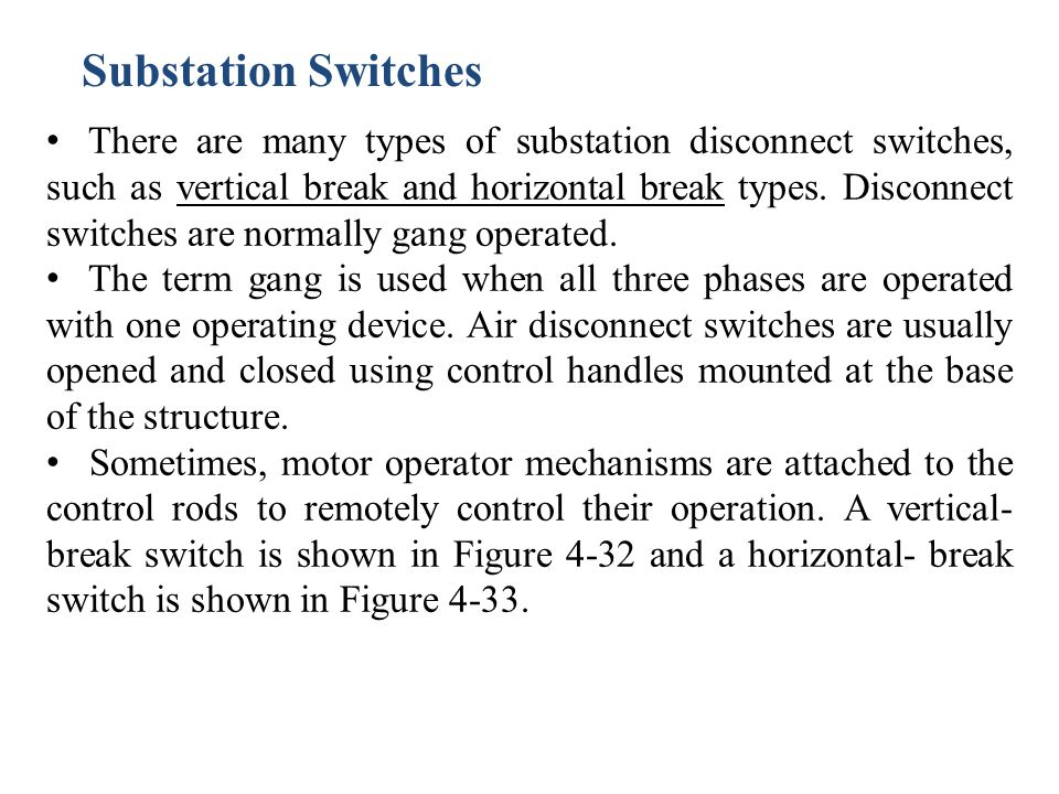 Substation Switches