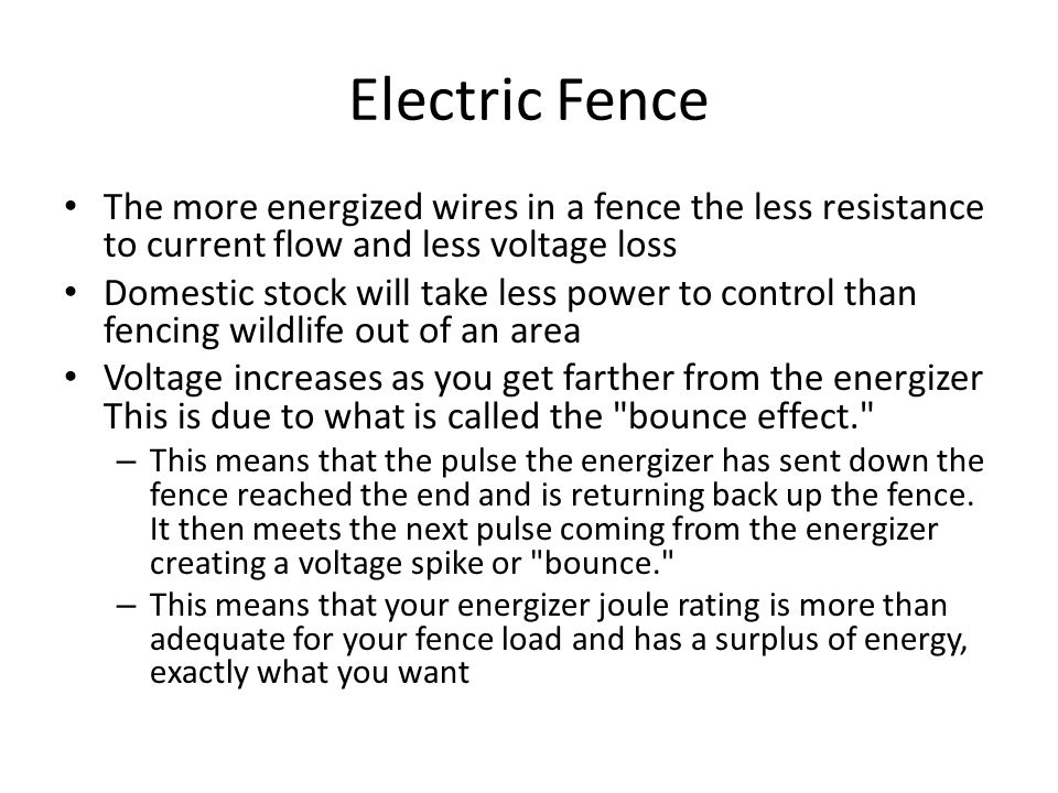 Electric Fence How it works - ppt video online download