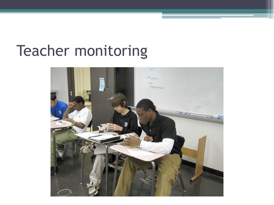 Teacher monitoring