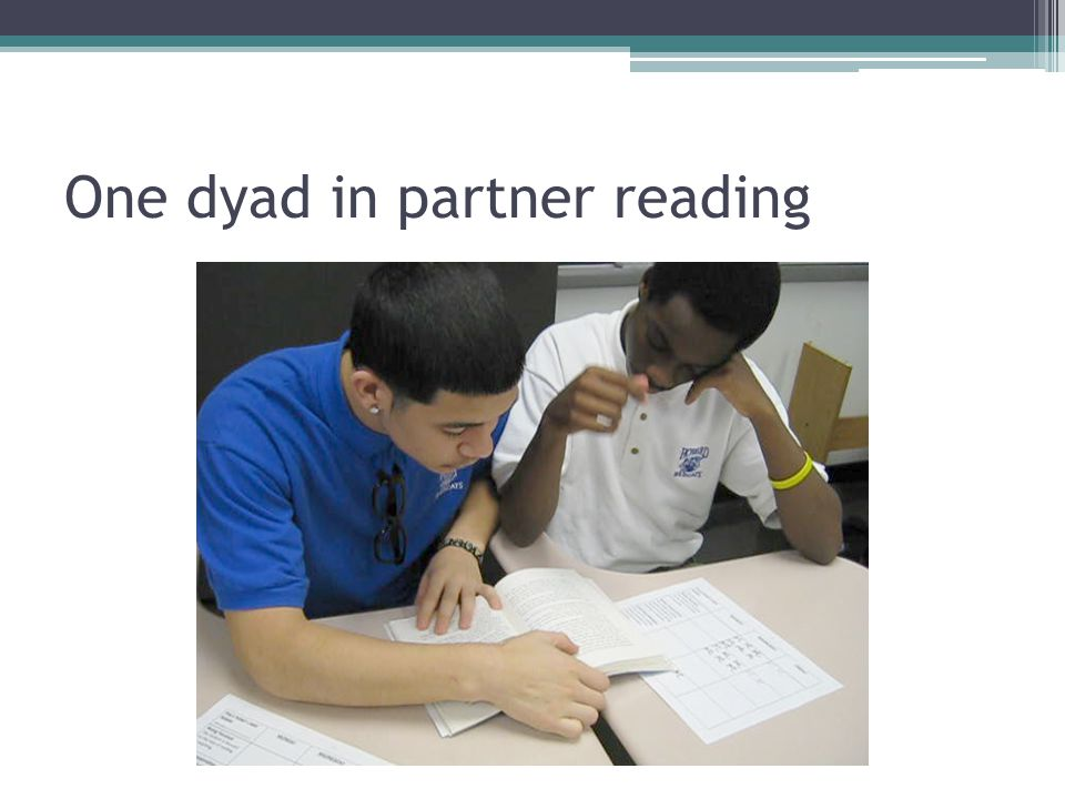 One dyad in partner reading