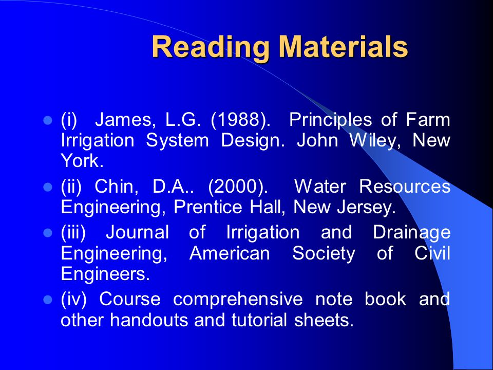 drainage engineering lecture notes