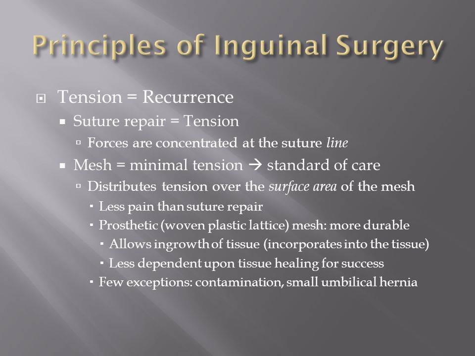 Principles of Inguinal Surgery