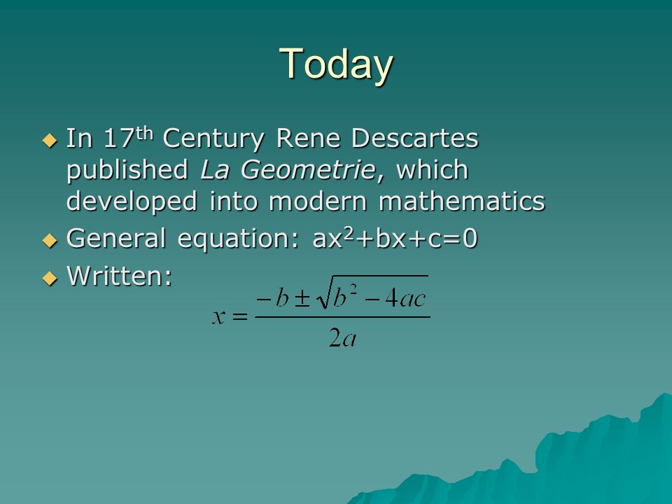 History of the Quadratic Equation Sketch ppt video online download