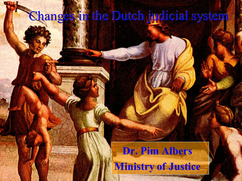Changes in the Dutch judicial system