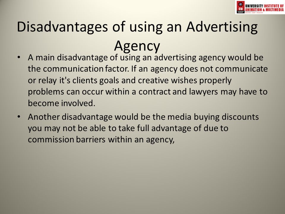 disadvantages of using advertising