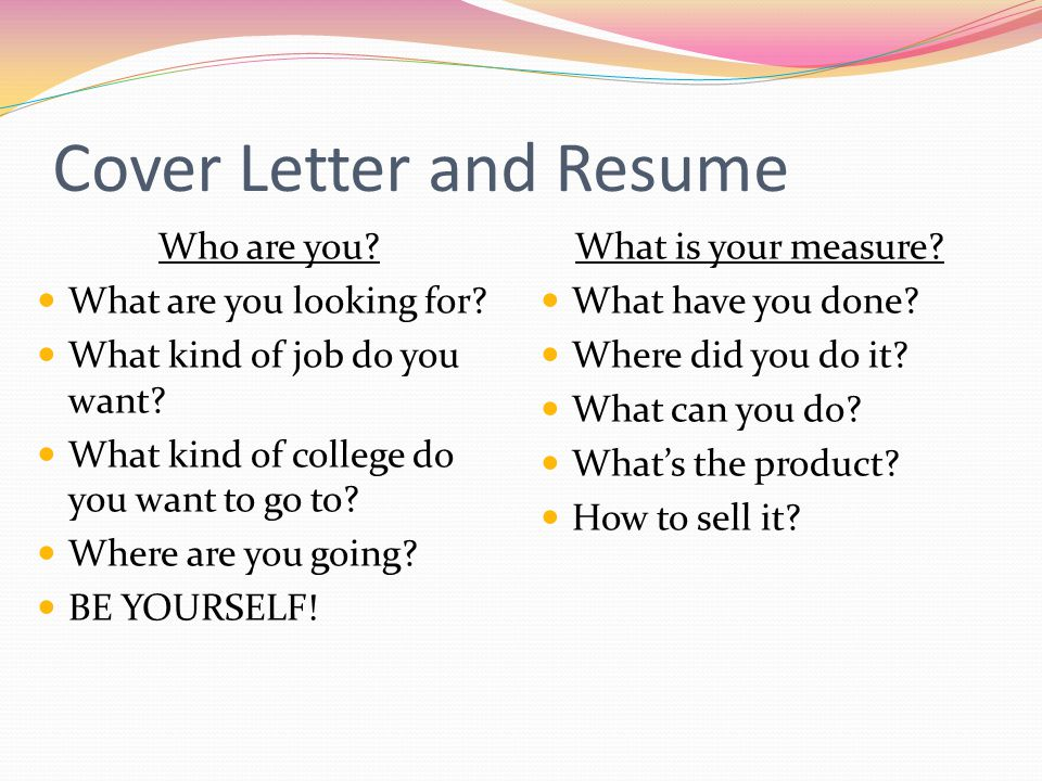 Creating a Resume & Cover Letter ppt