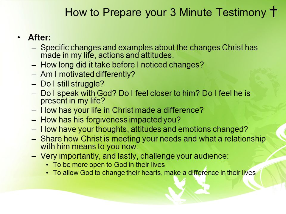 personal testimony outline