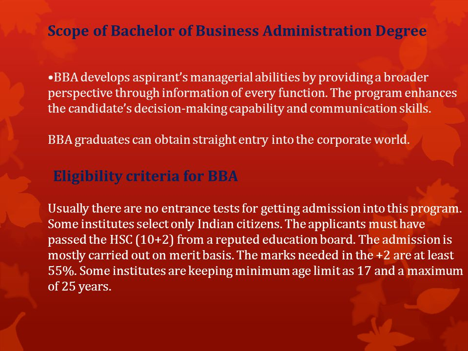 Of Business Administration Ppt Download