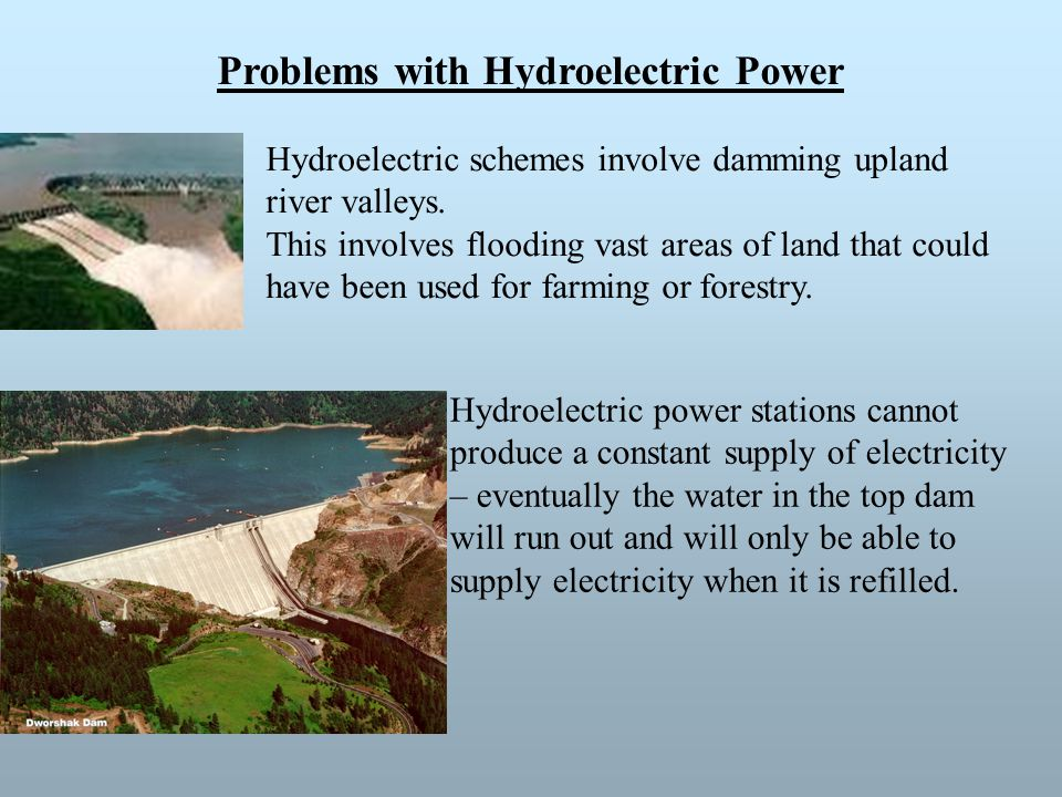 Problems with Hydroelectric Power