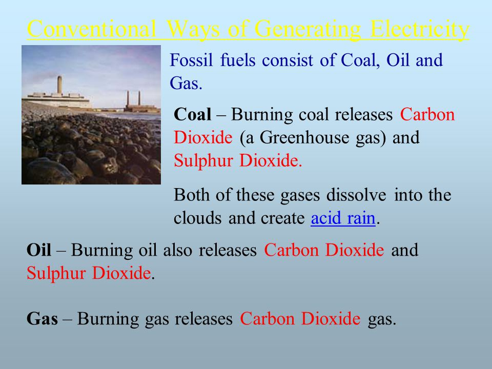Conventional Ways of Generating Electricity