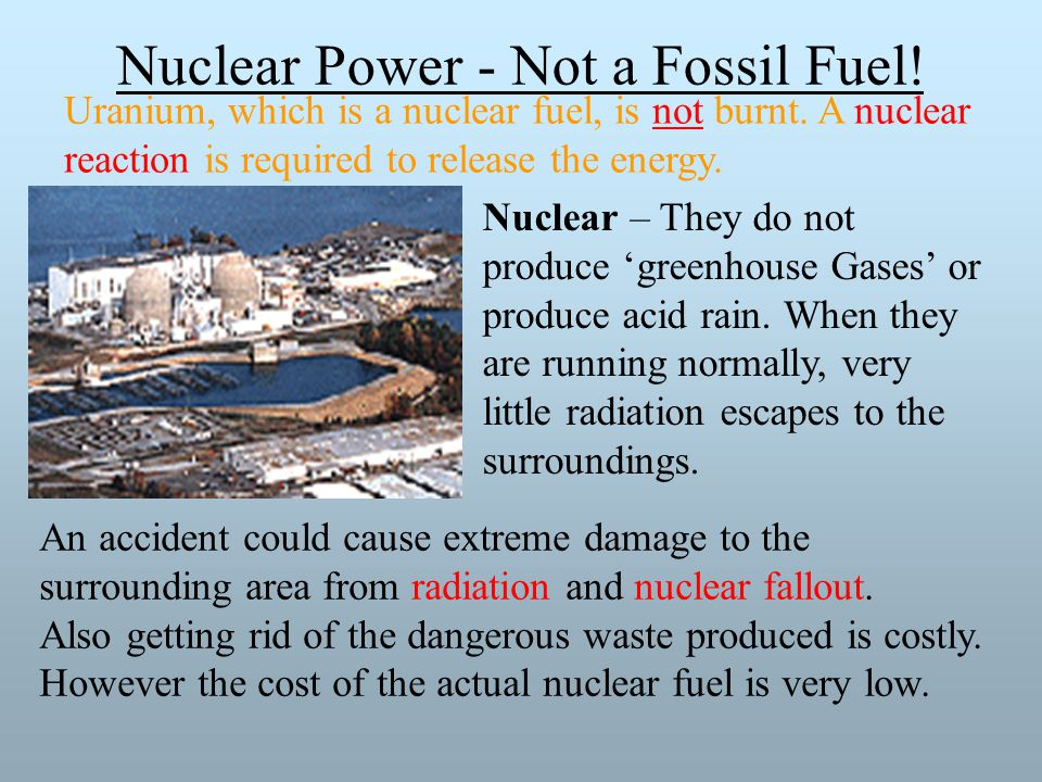 Nuclear Power - Not a Fossil Fuel!