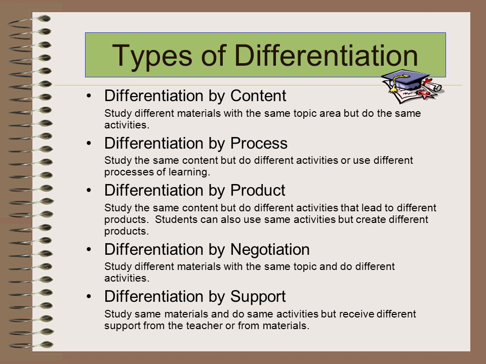 types of differentiation