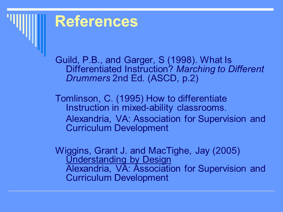 Differentiated Instruction References Today Manual Guide Trends