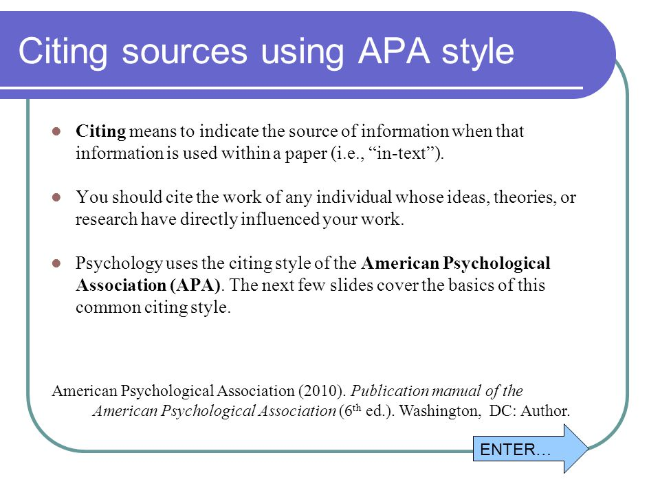 informitive essays with two sources apa style Introduction apa versus mla: what style guide do you use apa the american psychological association (apa) style is, originally, a set of rules that authors use when submitting papers for publications in the journals of the apa.