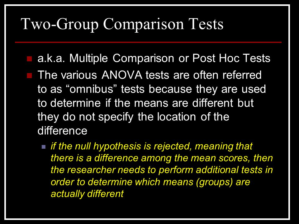Two-Group Comparison Tests