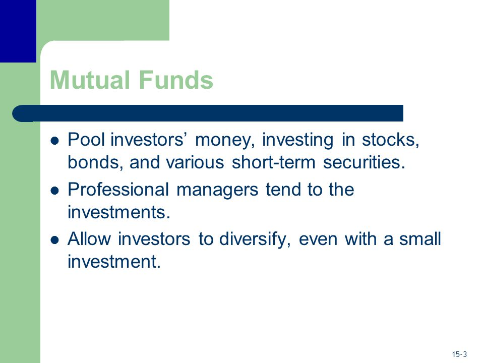 Mutual Funds: An Easy Way to Diversify - ppt video online