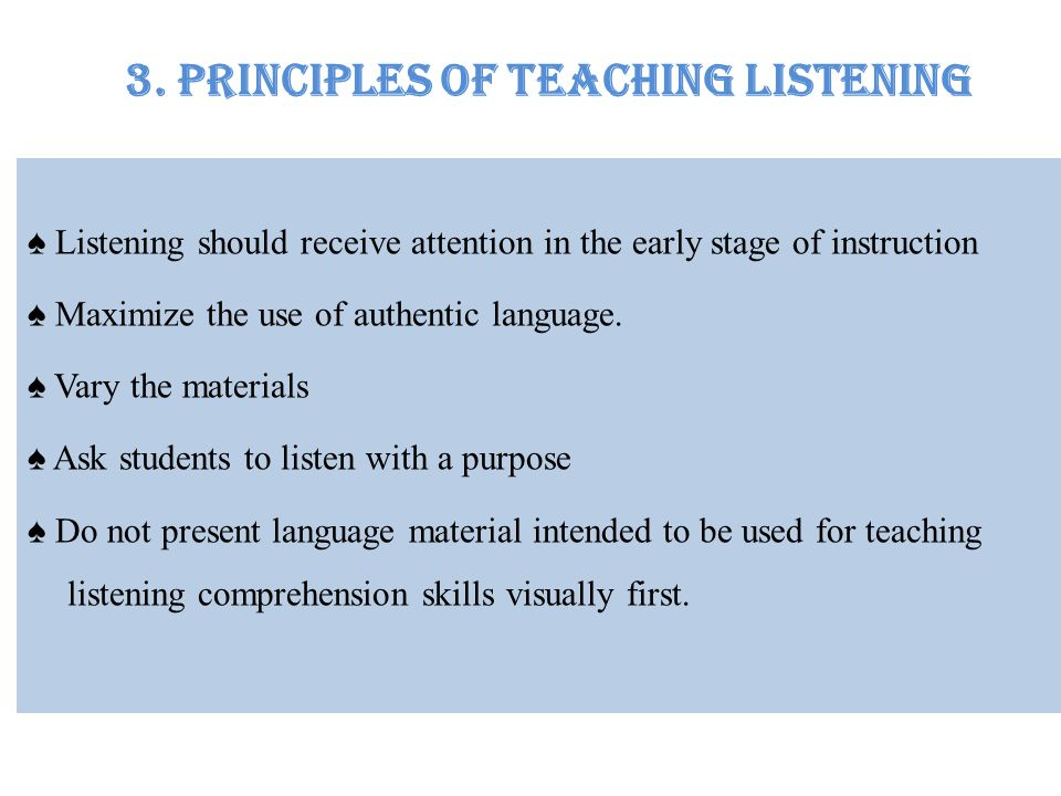3. Principles of Teaching Listening