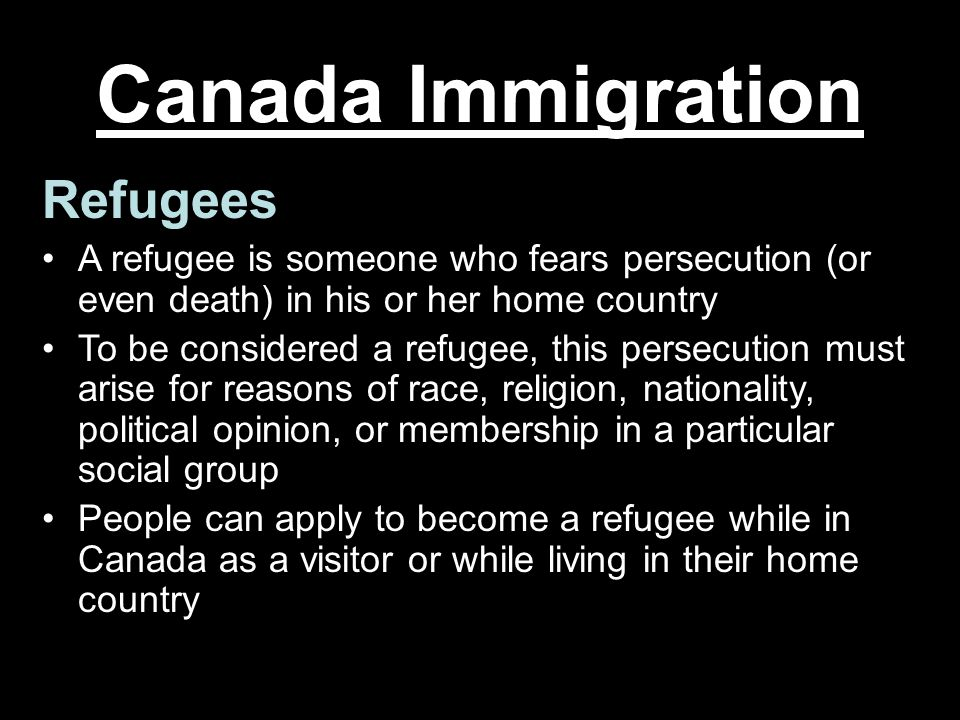 Canada Immigration Refugees