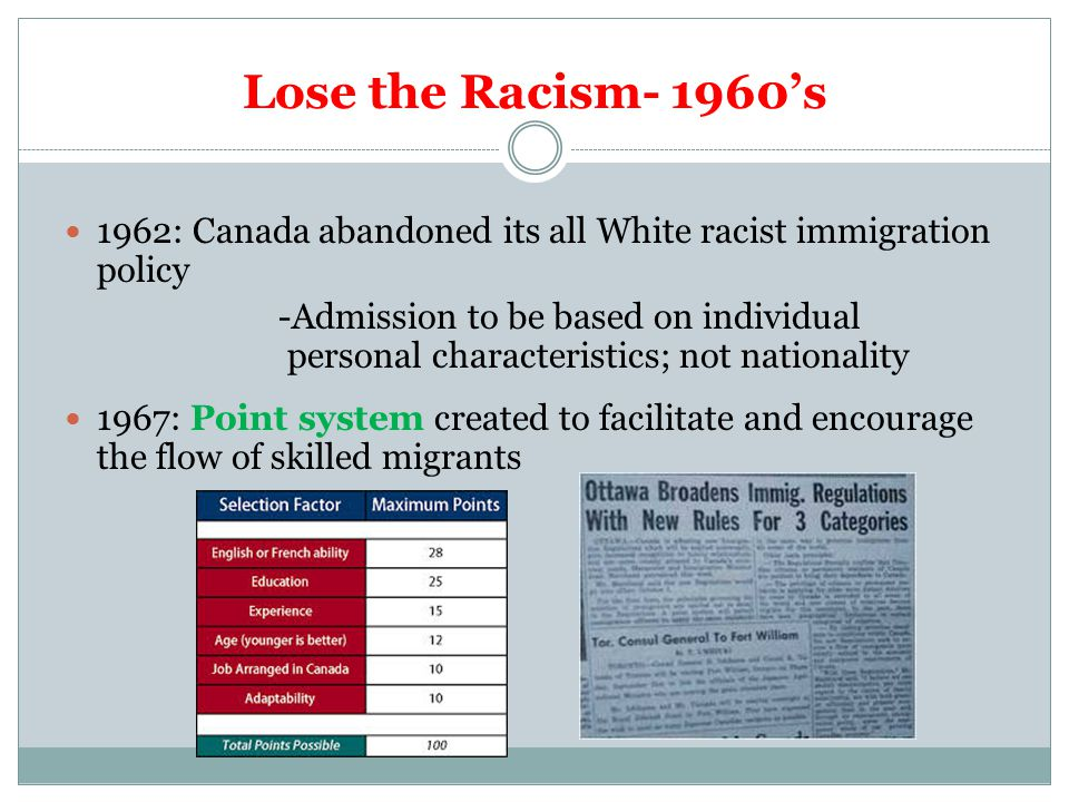 The Canadian Immigration System: Some History, Facts & Stats - ppt