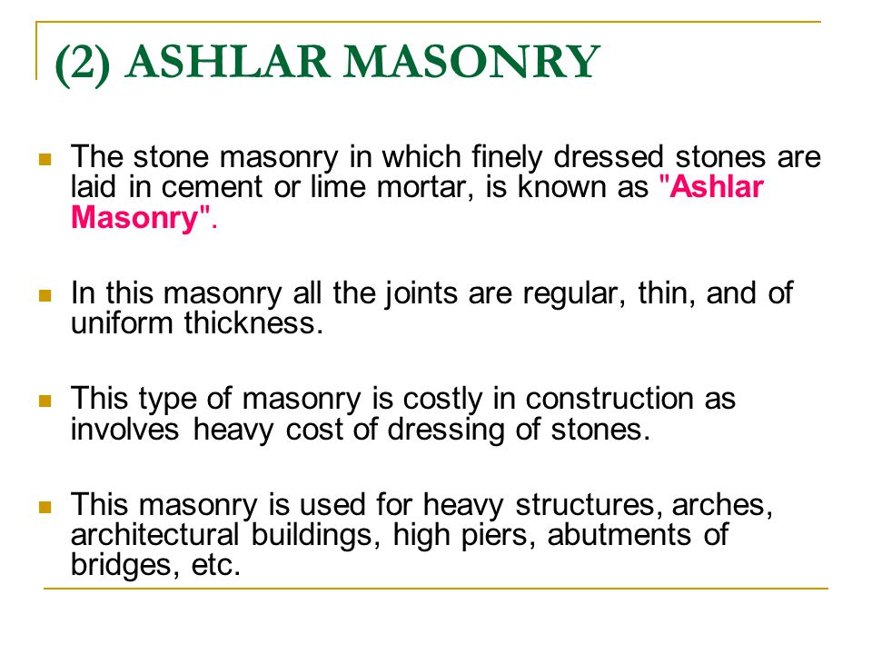 BUILDING CONSTRUCTION CHAPTER 01: MASONRY - ppt download