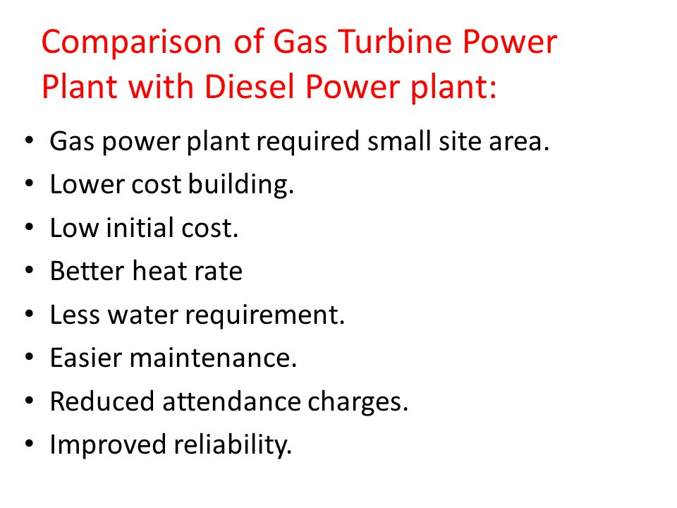 gas turbine power plant cost