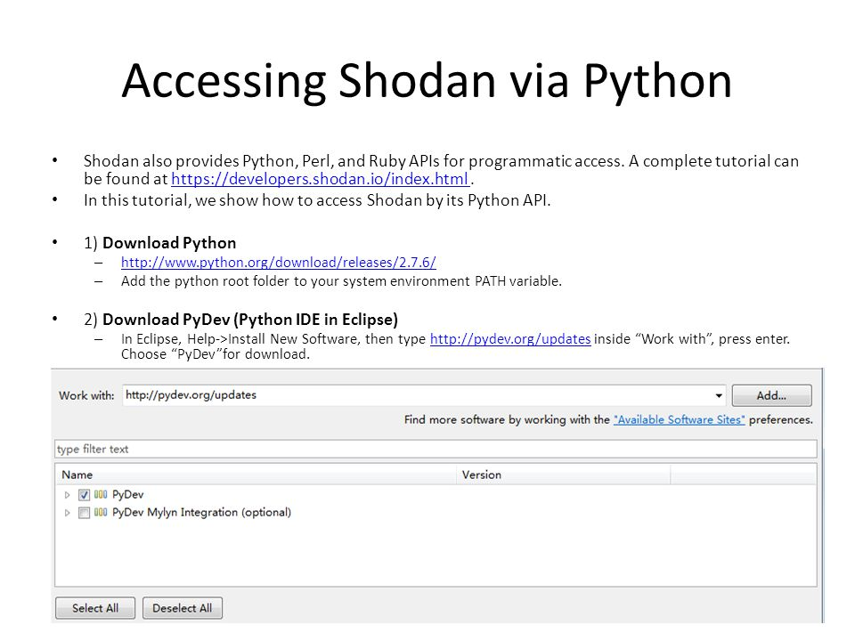 Hacker Web and Shodan A Tutorial for Accessing the Data - ppt download
