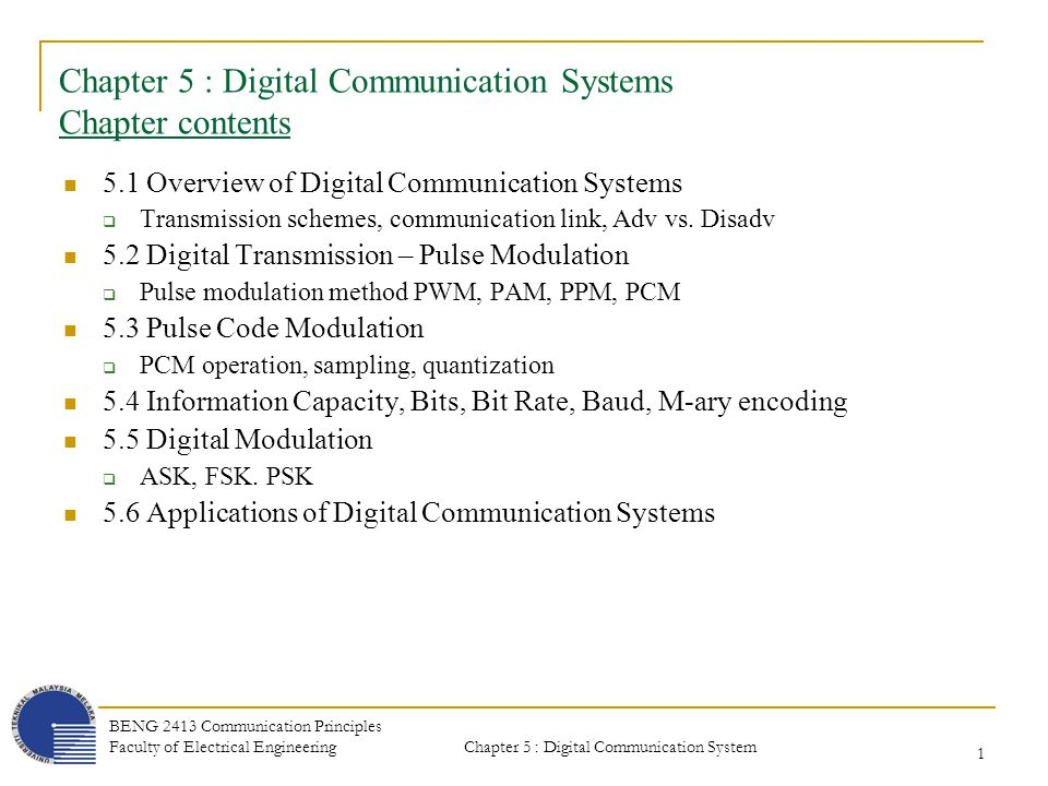 Chapter 5 digital communication systems chapter contents ppt chapter 5 digital communication systems chapter contents fandeluxe Gallery