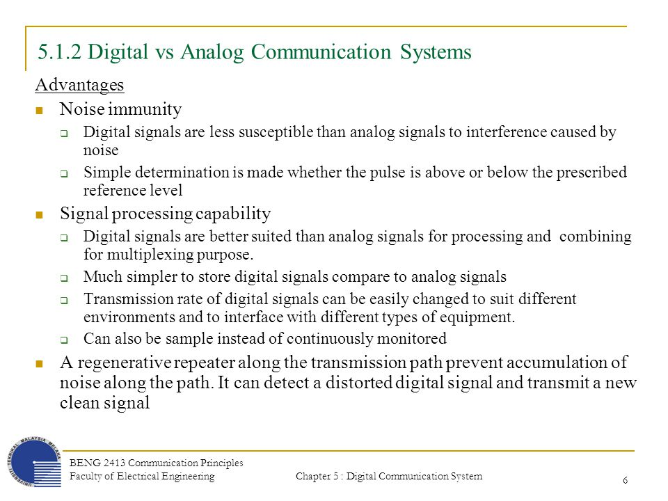 Chapter 5 digital communication systems chapter contents ppt 512 digital vs analog communication systems fandeluxe Gallery
