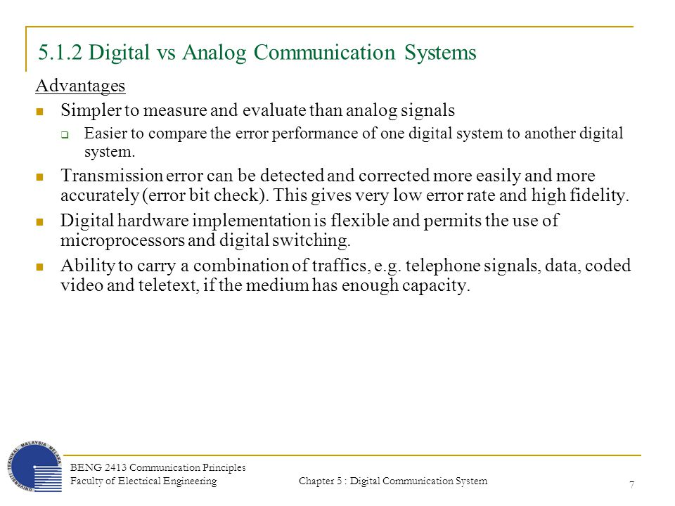 what is analog communication and digital communication