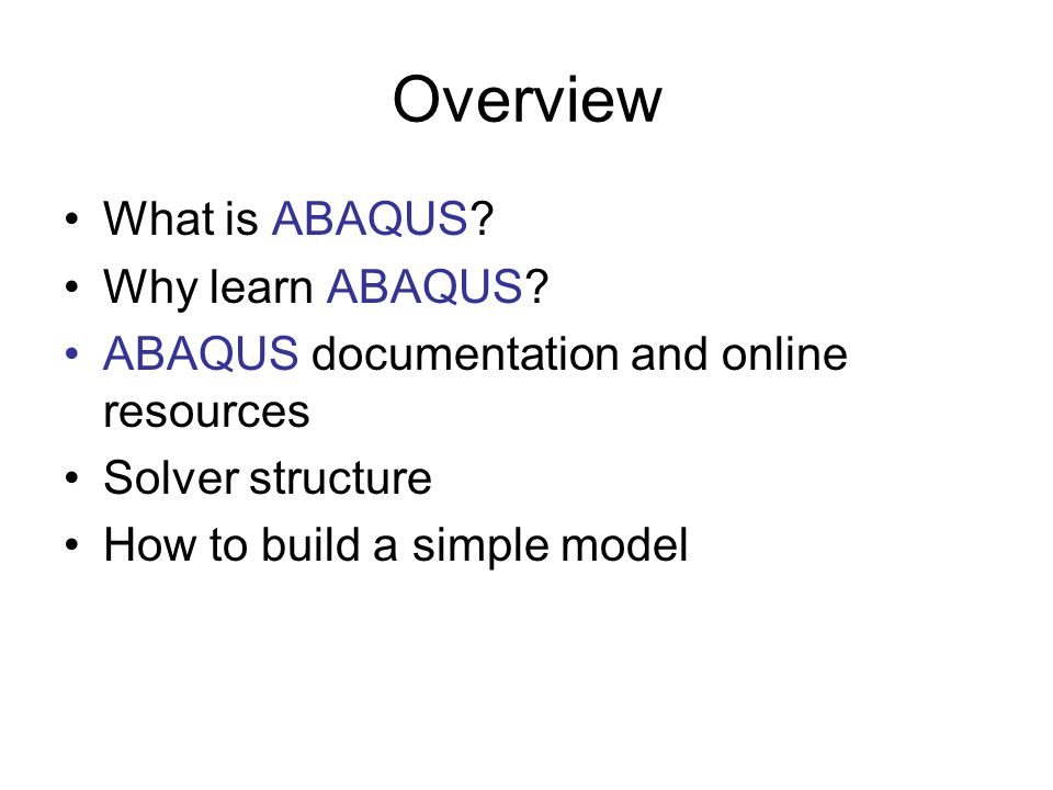 AE4131 ABAQUS Lecture Part I - ppt download