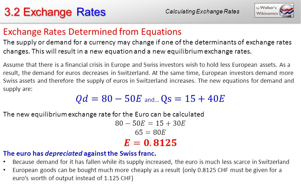 Calculating Exchange Rates