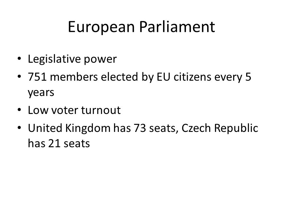European Parliament Legislative power