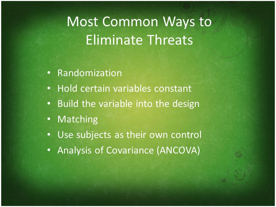 Most Common Ways to Eliminate Threats