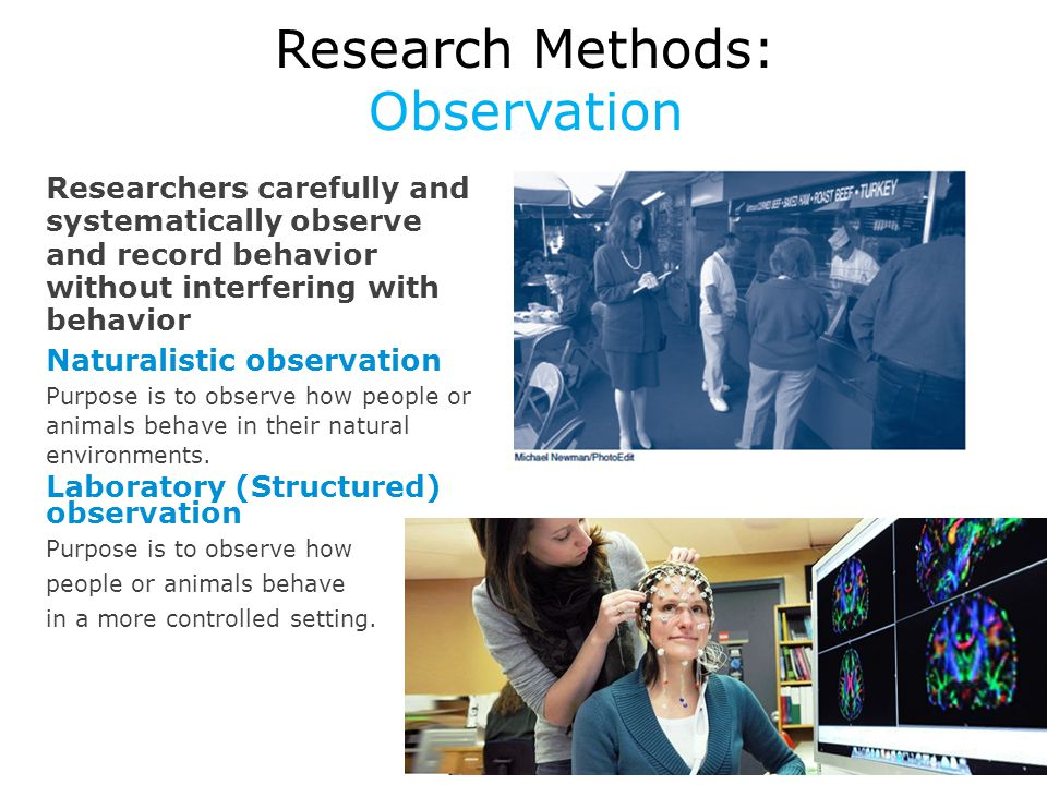 Research Methods: Observation